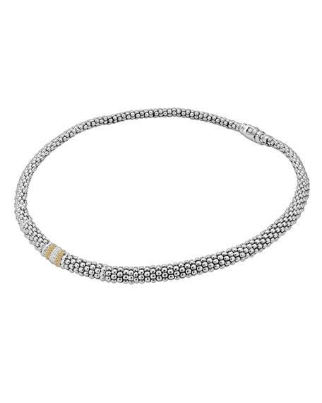 Caviar Lux Diamond Station Necklace