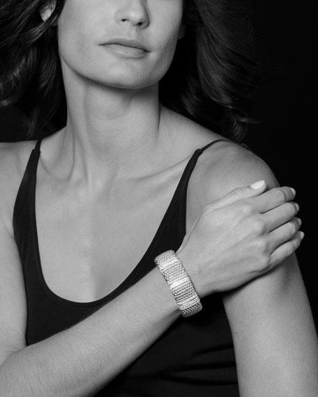Diamond Lux Caviar 23mm Three-Station Bracelet