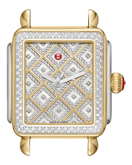 Deco Diamond Two-Tone Watch Head w/ Diamonds