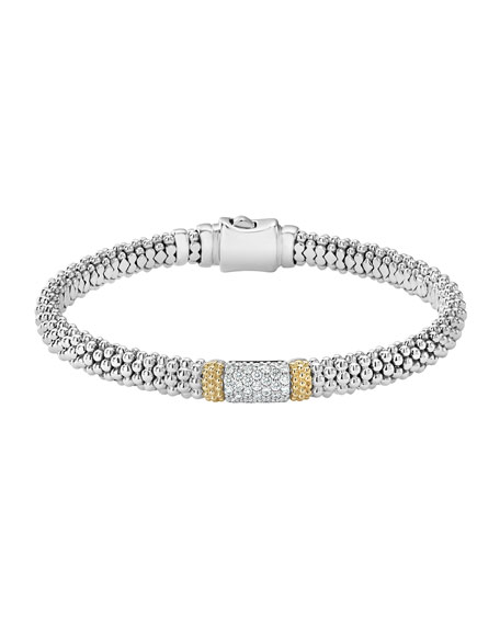Lagos Diamond Lux 6mm Single Station Bracelet with