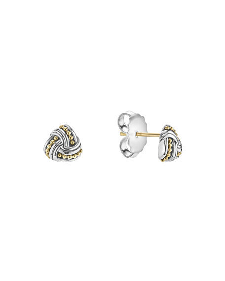 Small Caviar Knot Earrings