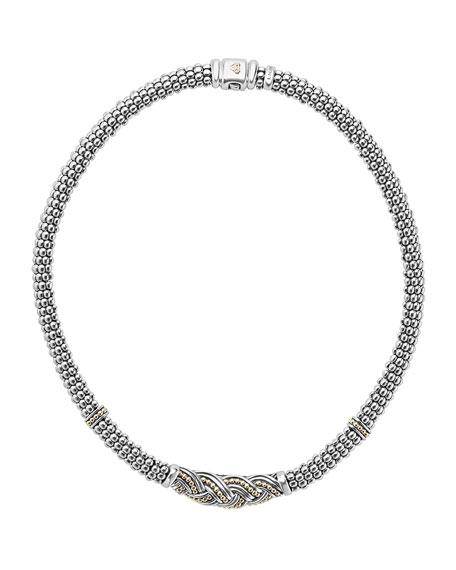 Torsade Knot Caviar Rope Necklace