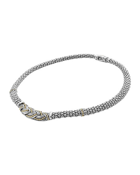 Torsade Knot Caviar Rope Necklace