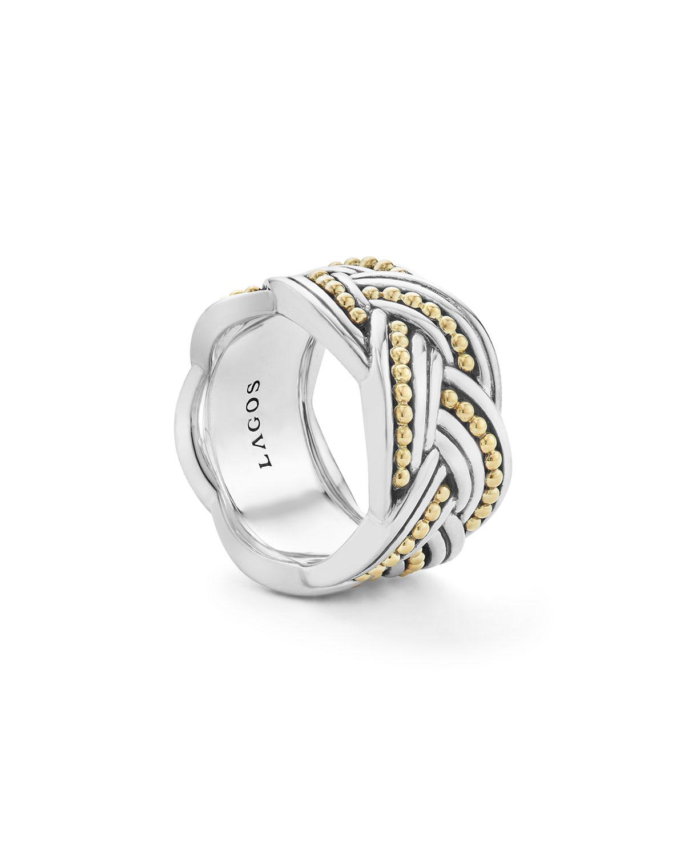 Lagos Torsade Knot Band Ring, Size 7