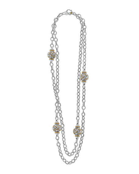 Torsade Knot Station Necklace, 36""
