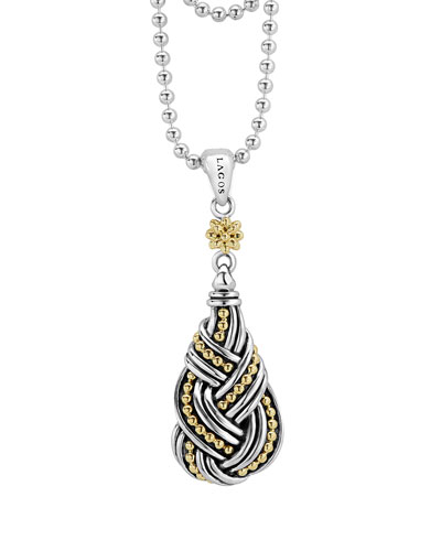 Torsade Knot Pendant Necklace