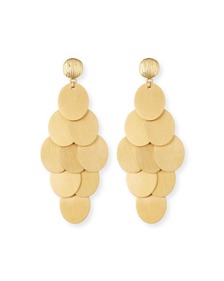 NEST Jewelry Brushed Cluster Statement Earrings
