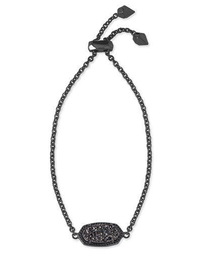Elaina Black Druzy Station Bracelet