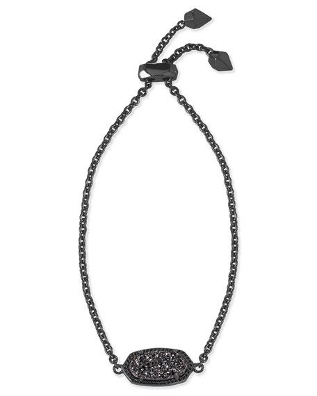 Kendra Scott Elaina Black Druzy Station Bracelet