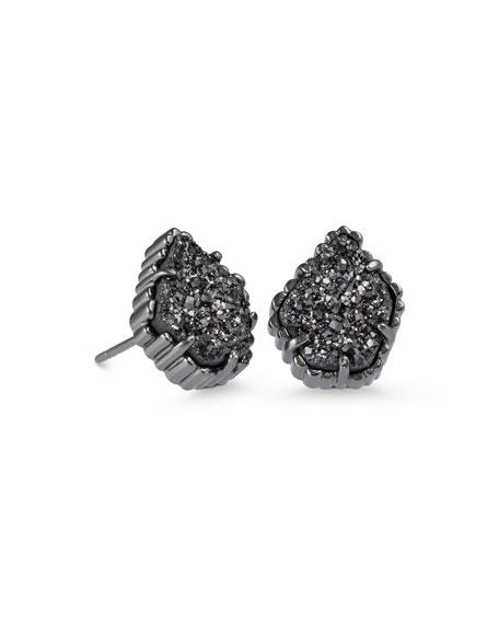 Kendra Scott Tessa Black Druzy Button Earrings WRcdFJNu
