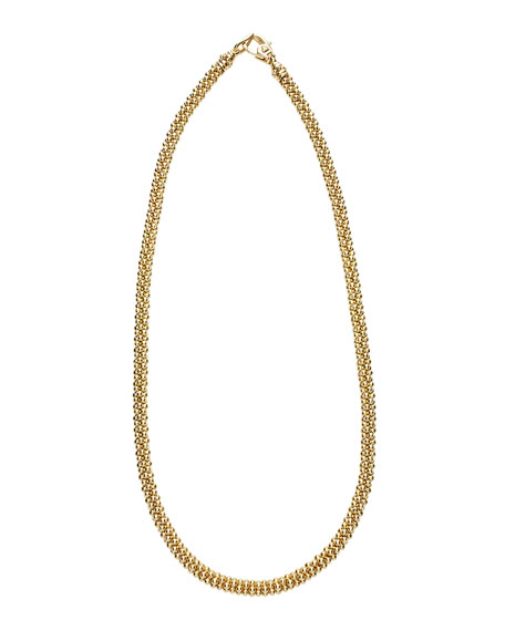 Mini 18K Gold Rope Necklace, 16""