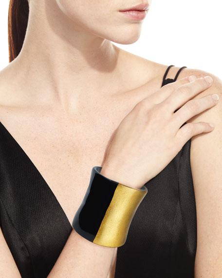 Tall Two-Tone Statement Bracelet