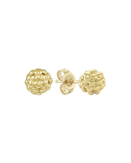 18K Gold Caviar Stud Earrings