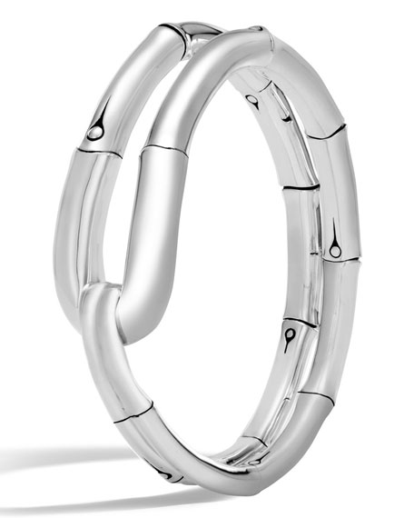 John Hardy Bamboo Silver Medium Flex Cuff Bracelet