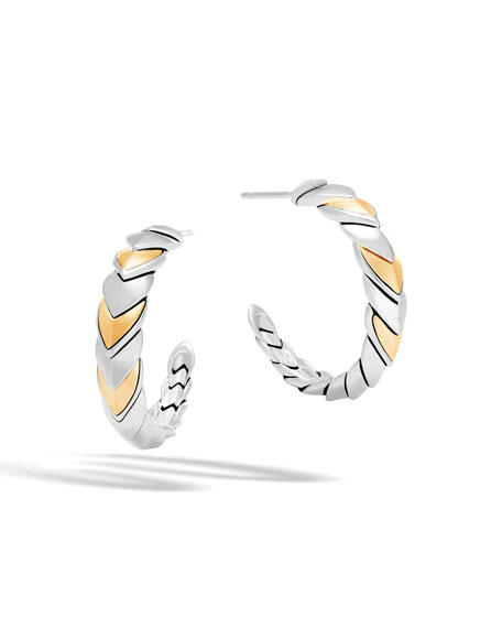 Legends Naga 18K Gold & Silver Small Hoop Earrings