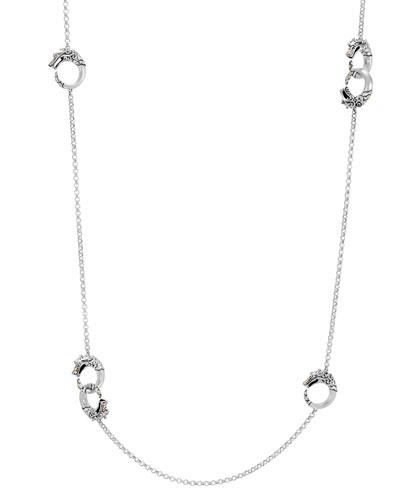 Legends Naga 18K Gold & Silver Necklace