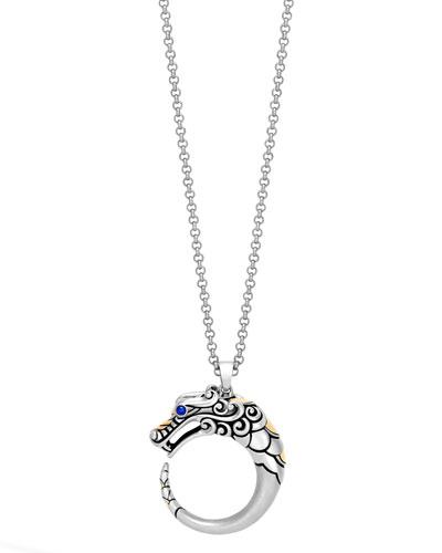 Legends Naga 18K Gold & Silver Pendant Necklace