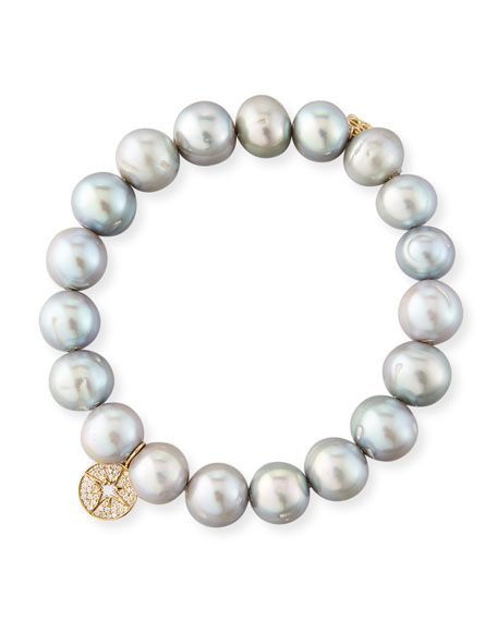 Sydney Evan 10mm Potato Pearl Beaded Bracelet with