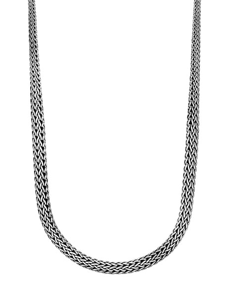 "Classic Chain Silver Graduated Necklace, 36""L"