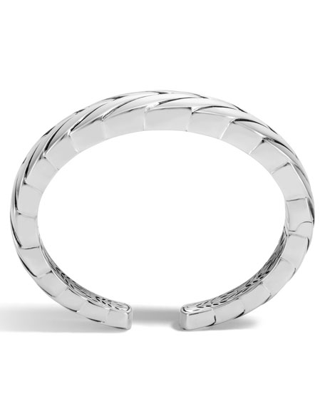 Modern Chain Silver Medium Kick Cuff Bracelet