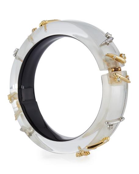 Thorn-Stud Lucite Bangle Bracelet