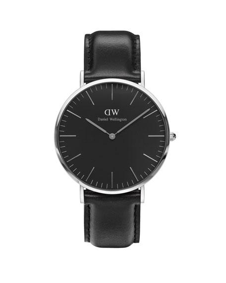40mm Classic Black Sheffield Watch