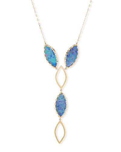 Casino 14K Gold & Boulder Opal Y-Drop Necklace