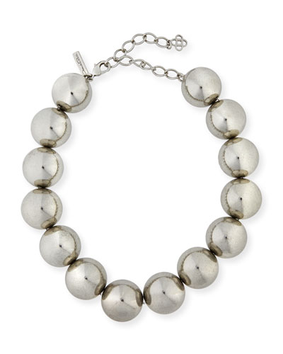 Bold Beaded Single-Strand Necklace