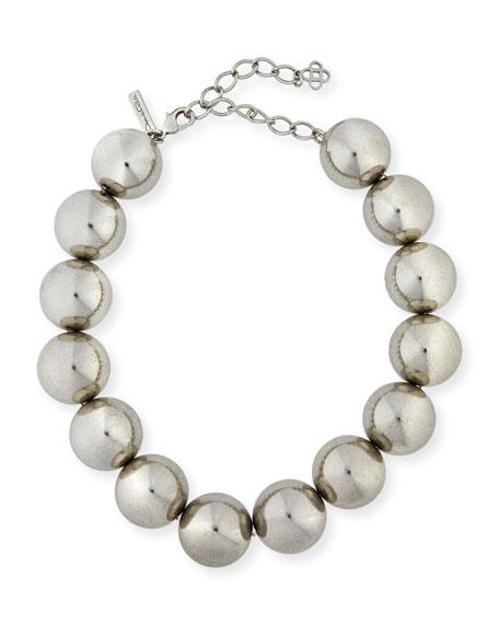 Oscar de la Renta Bold Beaded Single-Strand Necklace