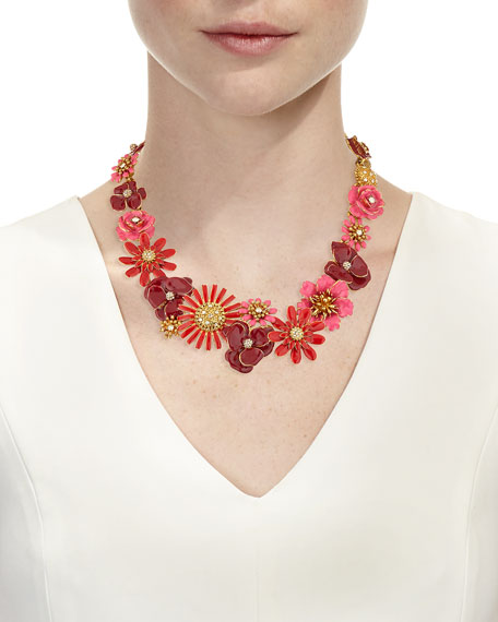 Small Gilded Floral Collar Necklace