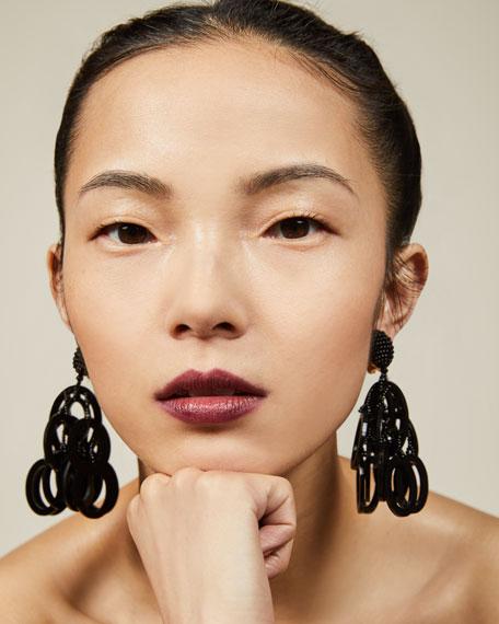 Circle Link Tassel Clip-On Earrings