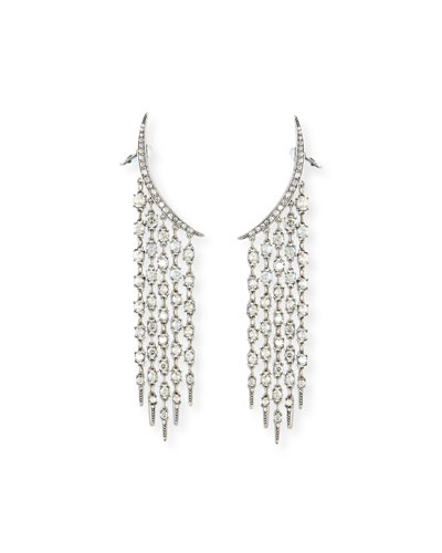 Tendril Crystal Chandelier Earrings
