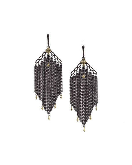 Armenta Old World Chain Tassel Earrings