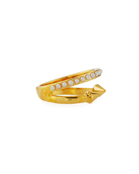 Ultra Mini Pearl Band Ring