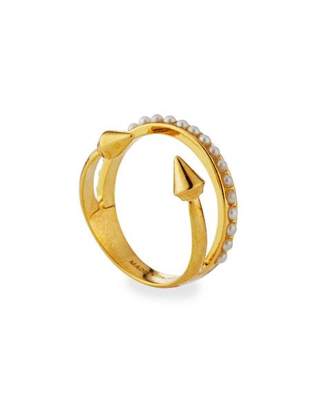 Ultra Mini Pearl Band Ring