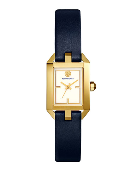 Dalloway Leather Strap Watch, Tory Navy/White