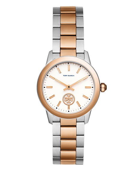 Collins Two-Tone Bracelet Watch, Silvertone/Rose-Golden