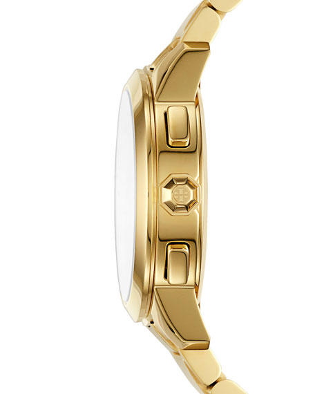 Collins Chronograph Bracelet Watch, Golden/Navy