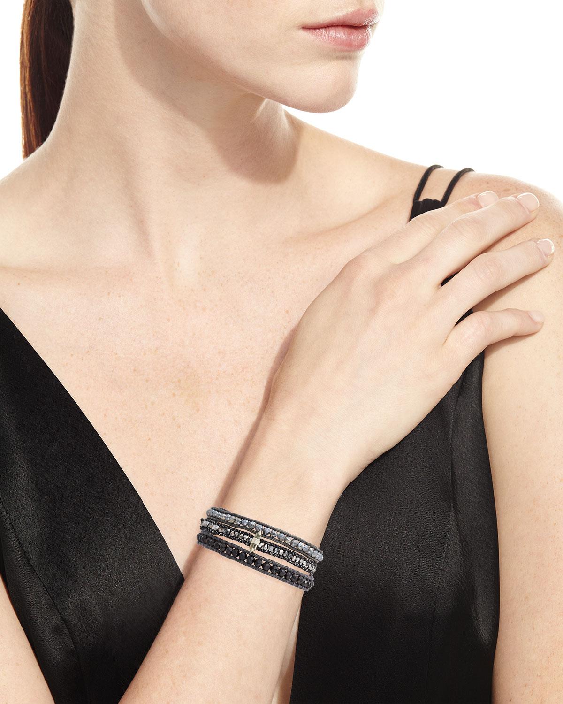 Chan Luu Three-Strand Pull-Tie Bracelet in Mystic Labradorite xbJnZe