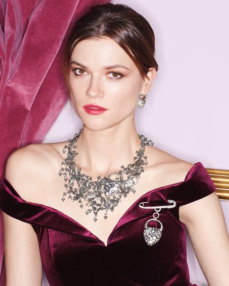 Nina Crystal Heart Brooch