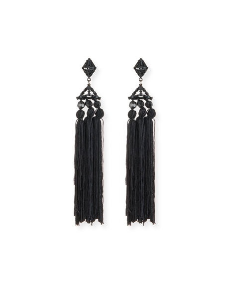 Helena Beaded Tassel Earrings