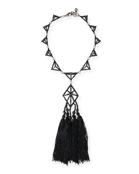 Helena Crystal Tassel Necklace