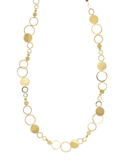 Multi-Disc Long Layer Necklace, 32""