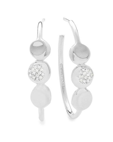 925 Onda Hoop Earrings with Diamonds