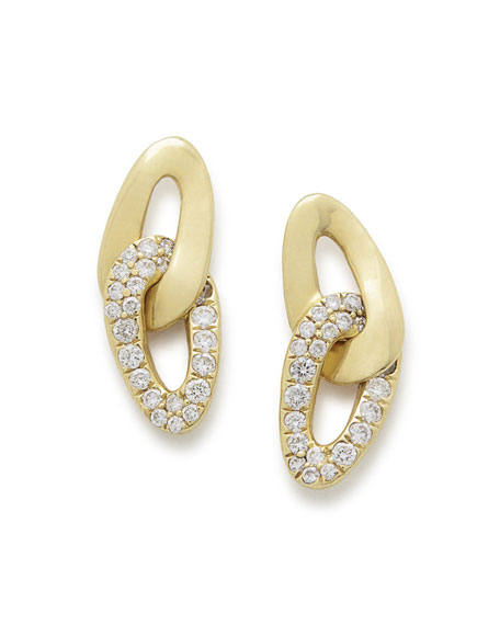 Ippolita 18K Cherish Interlaced Stud Earrings with Diamonds