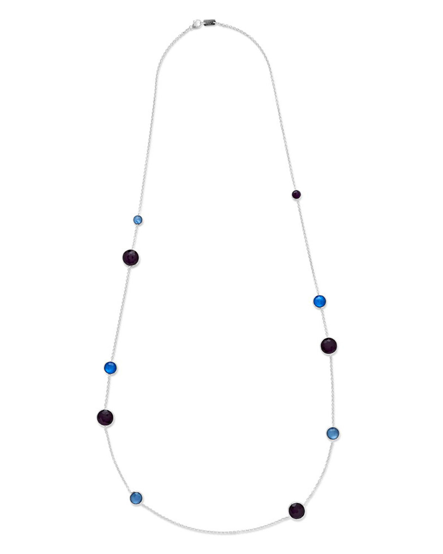 Ippolita 925 Rock Candy Wonderland Large Station Necklace in Midnight, 42