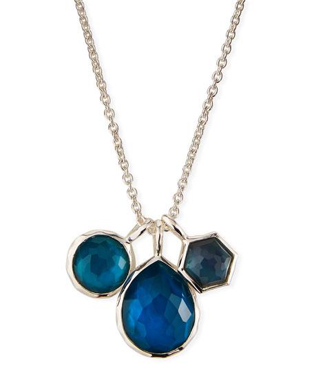 Ippolita 925 Wonderland Three-Stone Necklace in Indigo