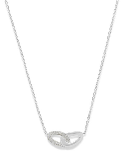 Cherish Interlocking Link Necklace with Diamonds