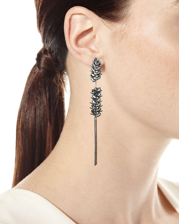 Saint Laurent Crystal Wheat Single Earring IBYX2i