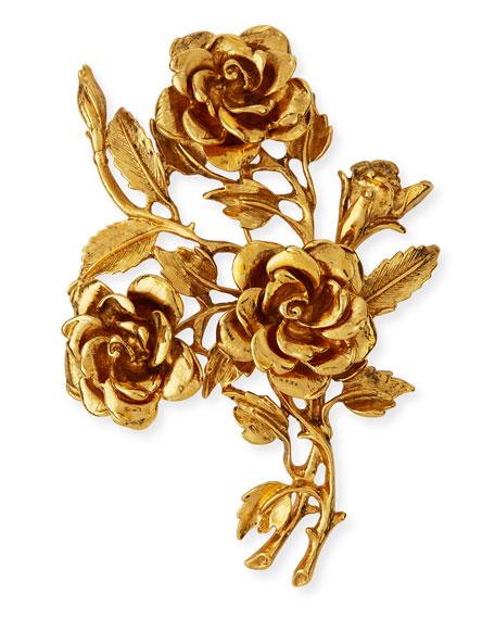 Jose & Maria Barrera Golden 3D Rose Pin